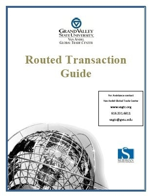 Guidebook routed transactions